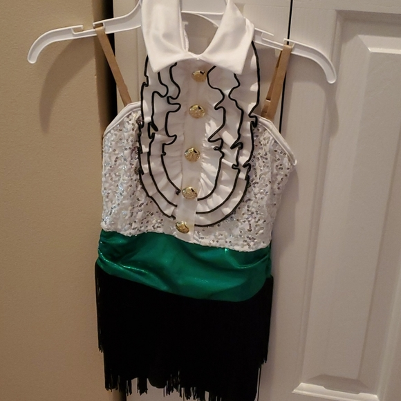 Tap Costume White Green and Black